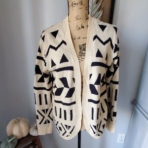 Forever 21 cardigan black and cream